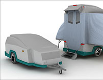 Trailer  for camping design