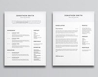 Free CV and Cover Letter Template with Minimal Design
