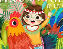Into the Wild Children's Book Cover Illustration