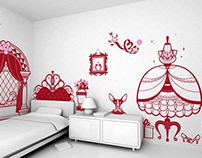 princess room :: children's wall decals
