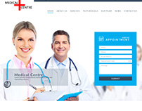 Medical clinic main page design.