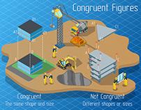 Congruent Figures - Isometric infographics