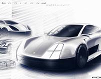 Vision of a future electric Porsche 911