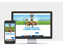 Paw Patrol Live! Website