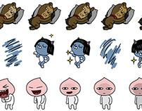 KAKAO FRIENDS animated emoji study