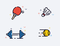 Themed Icons/Illustrations Travel | Sports | Technology
