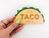 Taco Die-Cut Greeting Card