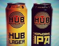 HOPWORKS URBAN BREWERY (HUB) LOGO & BRANDING