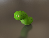 Worm Character Physical Render