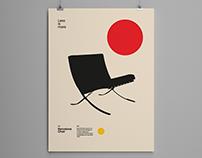 Barcelona Chair, Bauhaus Poster Design