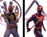 Power Rangers Variant set Covers