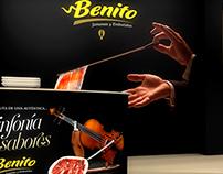Design stand Jamones Benito