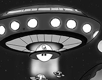 Illustrations - Invasion d'aliens