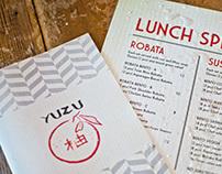 Yuzu Menu Design (Sushi Restaurant in Chicago, IL)