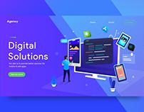 Concept UI/UX Design for Digital Solution Agency