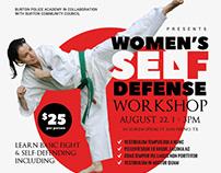Women's Self Defense Flyer Templates