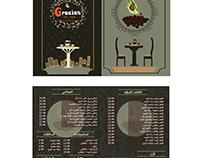 Gracias cafe menu design