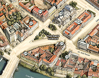 Illustrated Map of Oradea