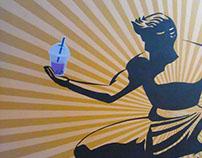 Detroit Bubble Tea Mural - Ferndale,MI.