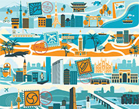 Illustrated Cities for Citizen Bike®
