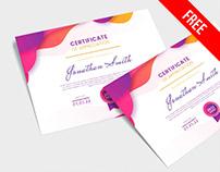 Free Certificate PSD Template