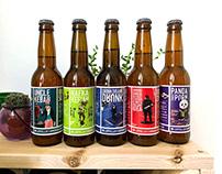 2019 Craft beer labels illustrations