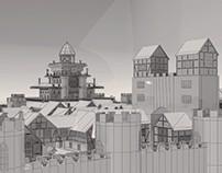 Pueblo Medieval 3D