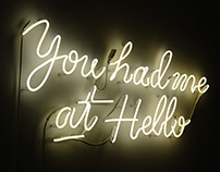 Hello Monday - Neon Sign