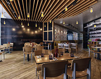 Wooden Cafe Design