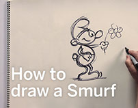 How to draw a Smurf