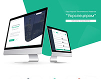 """Сайт визтка """"Укрспецпром"""""""
