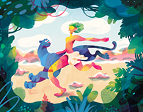 Illustrations for Mykolaiv Zoo (Николаевский Зоопарк)