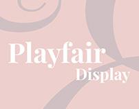 Playfair Display Typography | Brochure Design