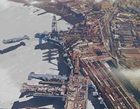 Industrial aera & airship construction facility