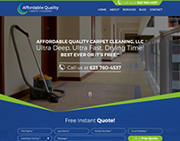 creative carpet cleaning webdesign made by nexstair