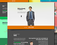 Free: Beauty – Creative Resume & Portfolio PSD Template