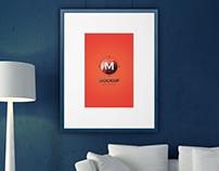 Free Elegant Home Interior Photo Frame Mockup PSD