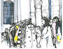 Schwarzmarkt Aachen Illustration