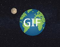 Earth and Moon (GIF)