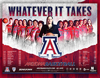 2016-17 Arizona Women's Basketball Poster