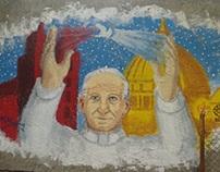 Pope John Paul II Mural