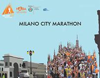 Milano City Marathon ideazione poster
