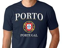 Porto, Portugal - T-shirt Graphic Design