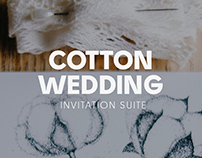 cotton wedding invitation suite