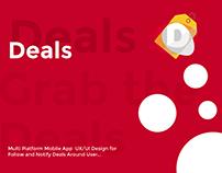 Deals - Promotion Tracking Mobile App