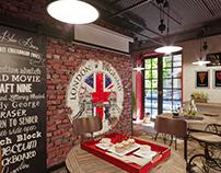 Проект кафе в городе Измаил S = 35,6 м2