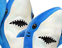 """Sharks"" Photorealistic Illustrations"