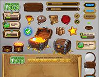 Playtika's Slotomania UI elements & assets