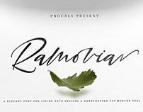 Free Ramovia Script Font