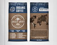 SallySue-Organic-Coffee Brand&Identity - Product Label